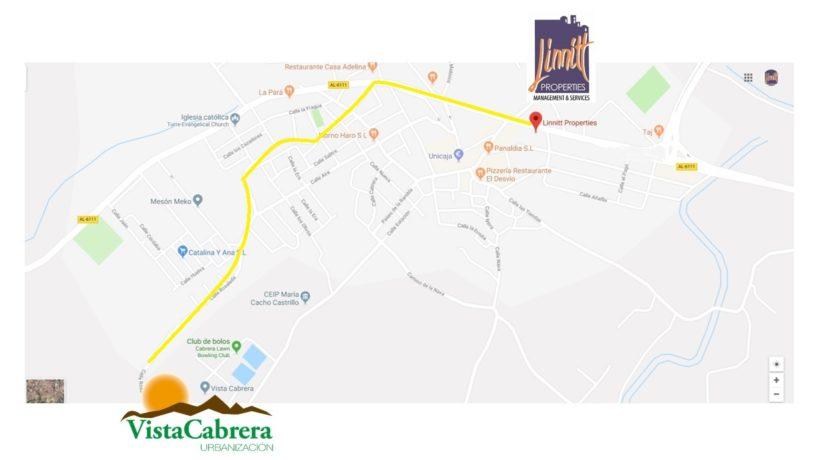 mapa Vista Cabrera